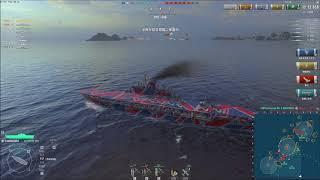 World of Warships 2019 07 02 下手なりに頑張る動画 0 8 5 1 イギリスティア10航空母艦 オーディシャス