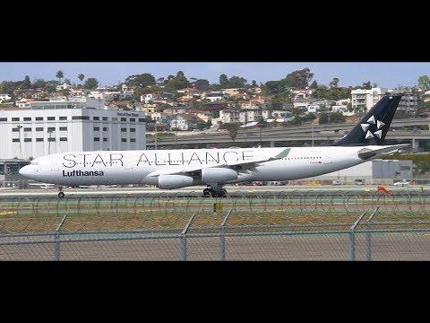 [HD] Lufthansa Airbus A340-300