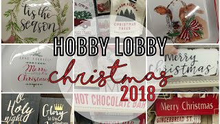 *New* Christmas at Hobby Lobby 2018