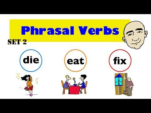 Phrasal Verbs | die, eat, fix | Set 2 | English Speaking Practice | ESL | EFL | ELL