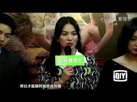 160225 송중기 송혜교 iQIYi 김치팬 인터뷰 Song Joong Ki Song Hye Kyo iQIYi Interview 宋仲基 宋慧乔 爱奇艺泡菜帮采访cut