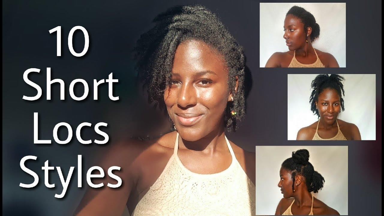 10 styles for short/starter locs | onyx goddess