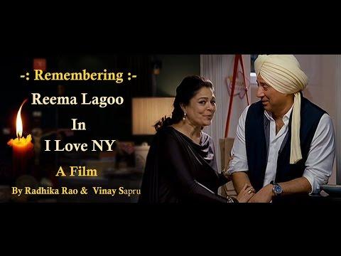 Reema Lagoo..! Matchmaking for Kangana Ranaut.. Fine Actress.. Great Human Being... I Love NY