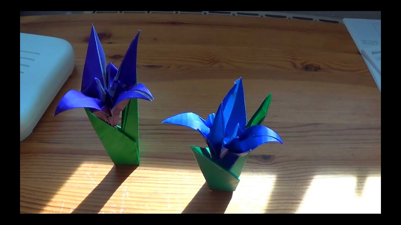 How To Fold Yourself An Origami Iris Flower In Less Than Ten