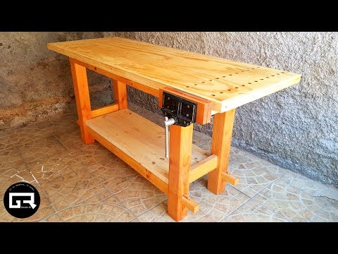 MESA DE TRABAJO PARA CARPINTERO / WOOD WORKBENCH BUILD