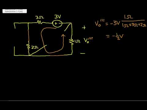 Superposition Example-Many Independent Sources