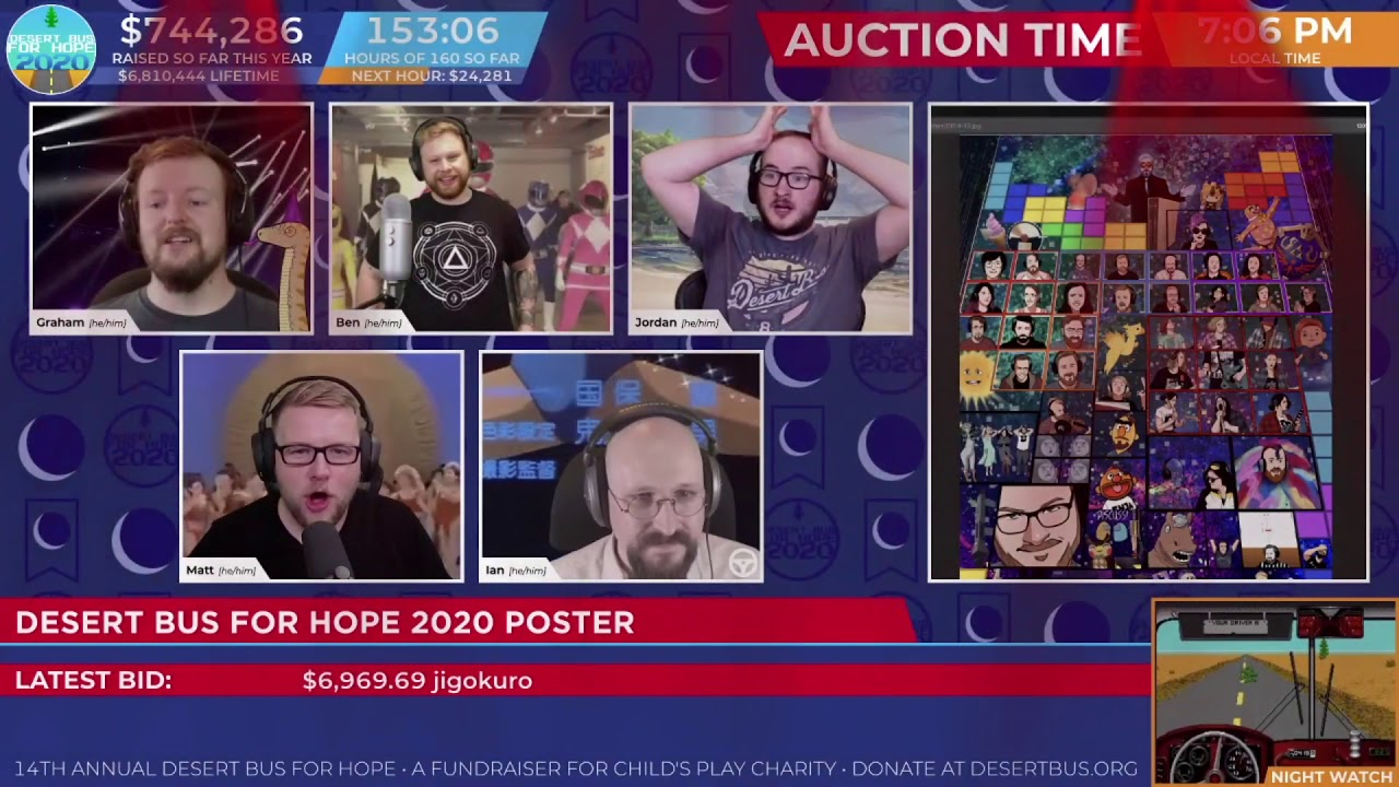 Download DB2020 - Auction: Desert Bus for Hope 2020 Poster - Won for: $10101.02