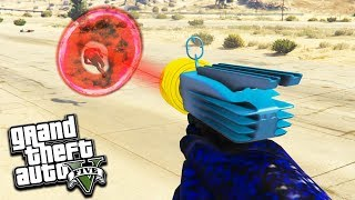 PISTOLET ALIEN GUN vs HUMAIN GTA 5 DLC