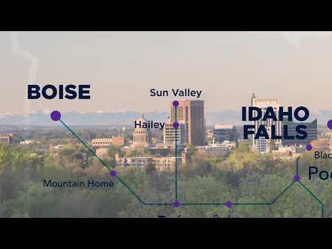 Salt Lake Express - Map from Las Vegas to Helena