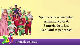 Gasca Zurli - Animale colorate (cu versuri - lyrics video) #zurli