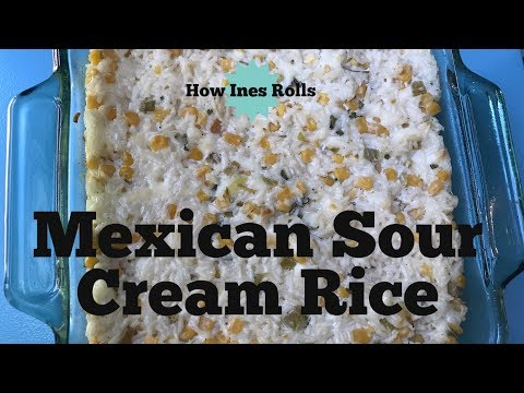 Mexican Sour Cream Rice | Easy Dinner Tutorial |*How Ines Rolls*