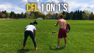 1 on 1s | CFL Tryout Practice | NFL Free Agents | Man Coverage | EnjoyTheGrind | Enjoy The Grind