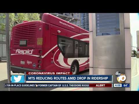 MTS Reducing Routes Amid Drop In Ridership