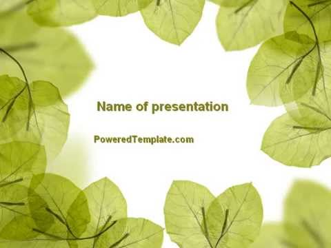 Lucid Leaves PowerPoint Template by PoweredTemplate - YouTube
