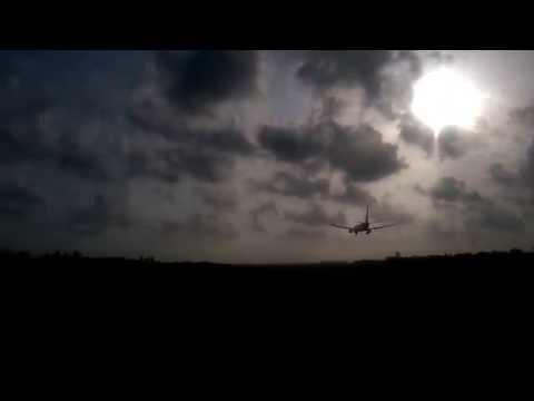 flight landing in Cochin international airport