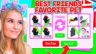 TRADING My BEST FRIEND FAVORITE PETS In Adopt Me! (Roblox)