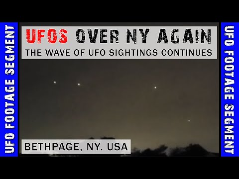 UFO SIGHTING VIDEO • New Footage Shows Several Lights In NY Skies