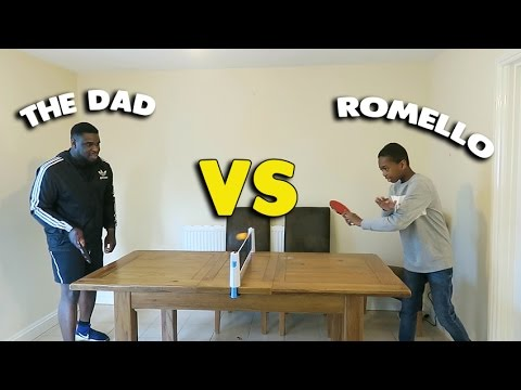 CAN I FINALLY BEAT THE DAD AT TABLE TENNIS??