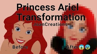 Download lagu Princess Ariel Transformation ☺️❤️ using IbisPaintX
