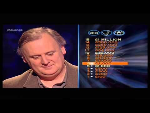 Who Wants to Be a Millionaire UK - John Sexton (1/2)