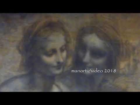 Leonardo Da Vinci, The Burlington House Cartoon, National Gellery, London Manortiz