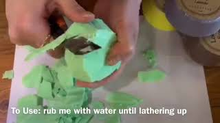 Loofah soap video