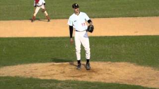 Aleksey Lukashevich pitching for Brest 2011