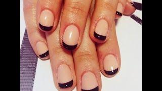 Красивый маникюр - френч на короткие ногти