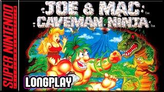 Joe & Mac - Cavęman Ninja - Full Game 100% Walkthrough - SNES