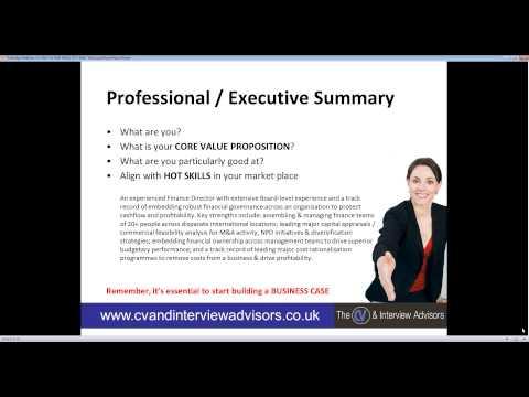 21/10/2014 Advanced CV Writing and LinkedIn Profile Webinar