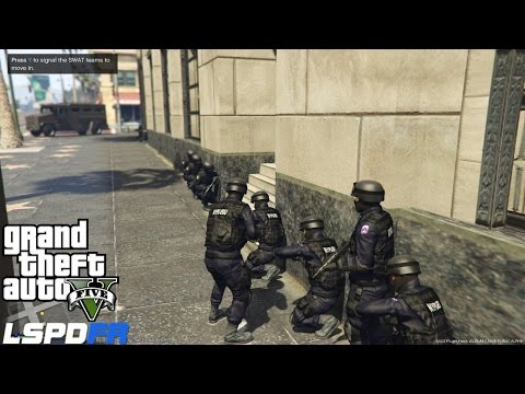 LSPDFR Police Mod Ep 58 | Pacific Bank Heist | Assorted  Callouts | NYPD ESU Swat Patrol