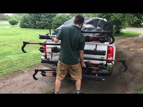 kuat nv 2 0 bike rack and tridock youtube