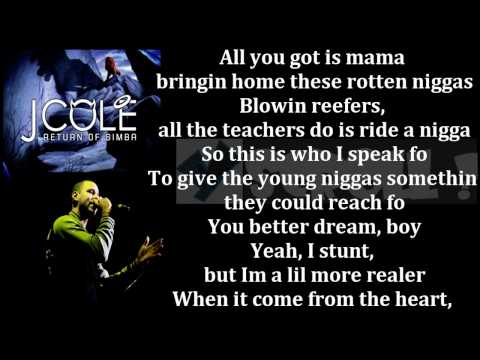 J Cole Return Of Simba Lyrics On Screen YScRoll