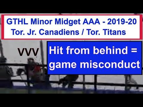 GTHL Minor Midget AAA Liam Sztuska Kocha Delic Matt Morden Mason Jr  Canadiens 1 Toronto Titans 0