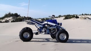 Cheetah banshee riding with friends Coos Bay dunes Oregon