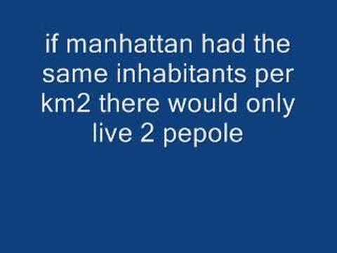 wierd facts manhattan vs alaska