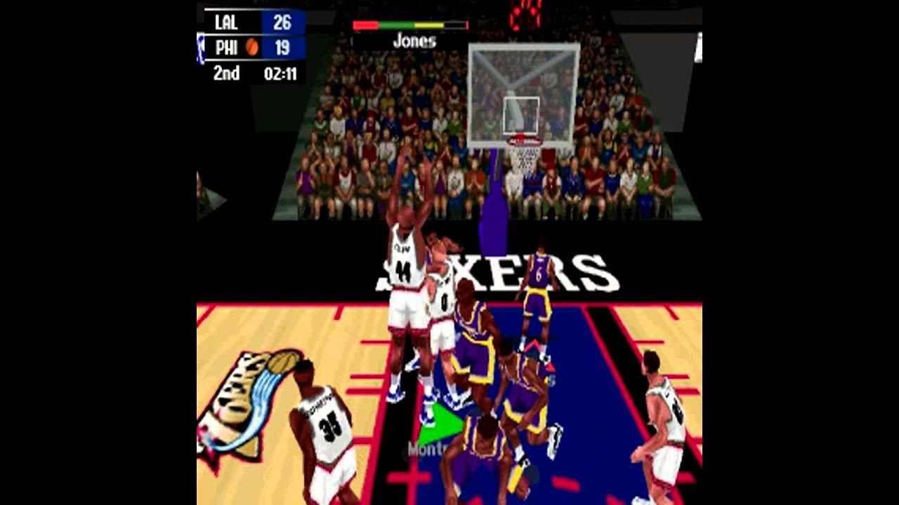 NBA Action 98 - The Father of NBA 2K - Lakers vs 76ers PC - YouTube