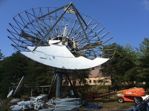 Skybrokers de-installs Earth Station Antennas at WIT in Washington DC, USA