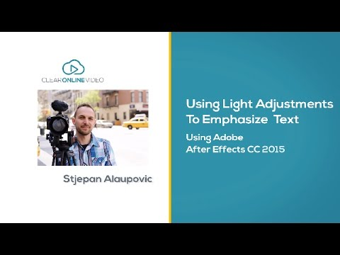 Tutorial: How to Emphasize Text with Light Adjustments in Adobe After Effects