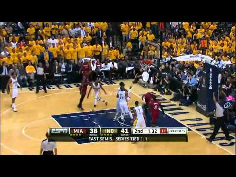 NBA Miami Heat Vs Indiana Pacers Game 3 HQ Highlights - Playoffs 2012 (1-2)