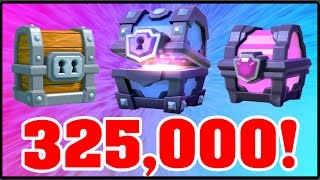 Clash Royale | INSANE CHEST OPENING! 325,000 SPECIAL! | Buying All The Chests! 14,000 Gems!