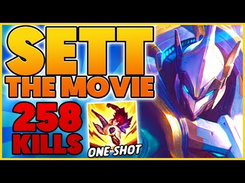*SETT THE MOVIE* I TRY EVERY BUILD POSSIBLE ON SETT (250+ KILLS) - BunnyFuFuu