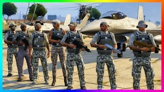 GTA ONLINE MILITARY MAYHEM FREEMODE TAKEOVER - ULTIMATE ZANCUDO BASE WAR, LOS SANTOS ARMY & MORE!