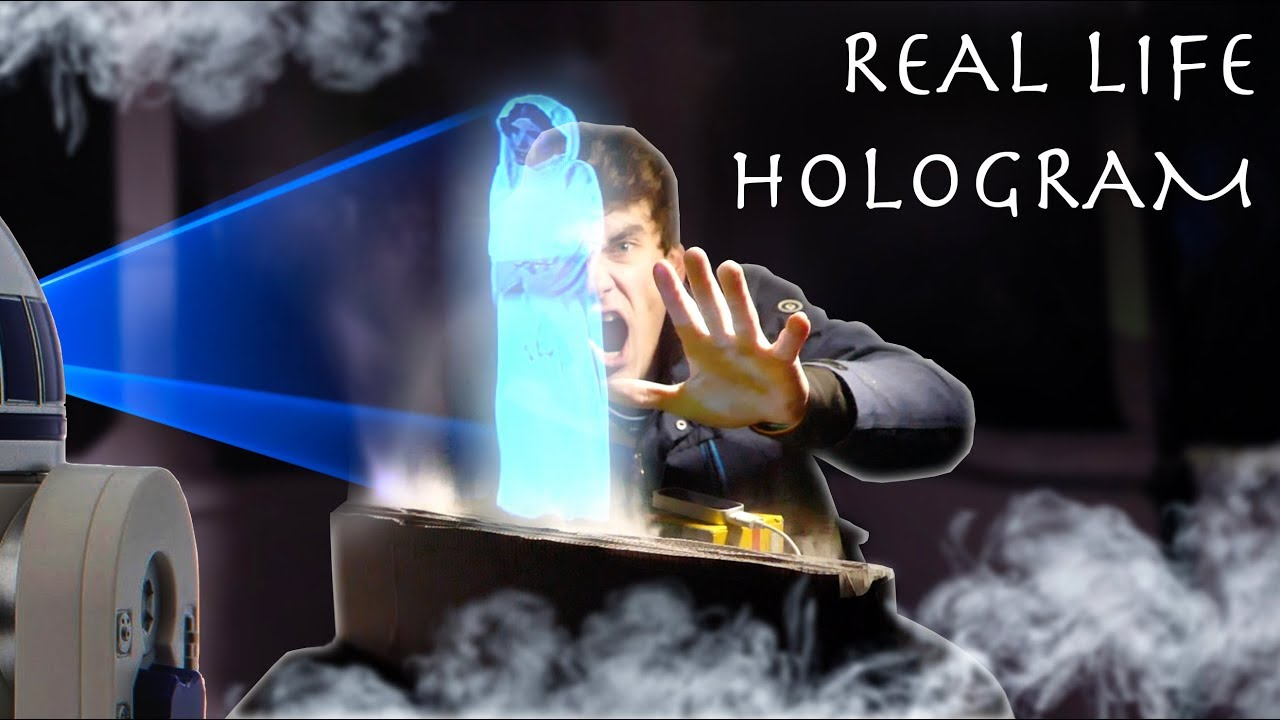 Download How To Make an INTERACTIVE HOLOGRAM! (Cheap Easy DIY Build)