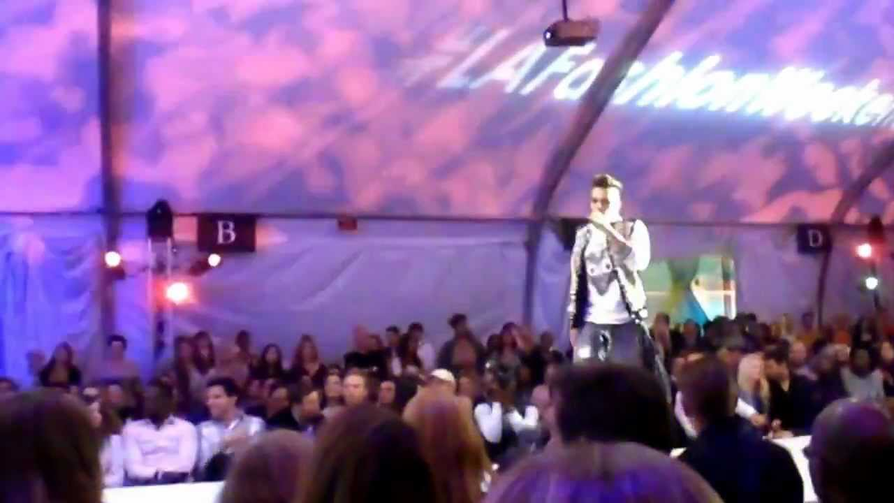 Download Midnight Red performs live Opening night at L.A. Fashion Weekend Spring/Summer 2013 on 10-21-2012