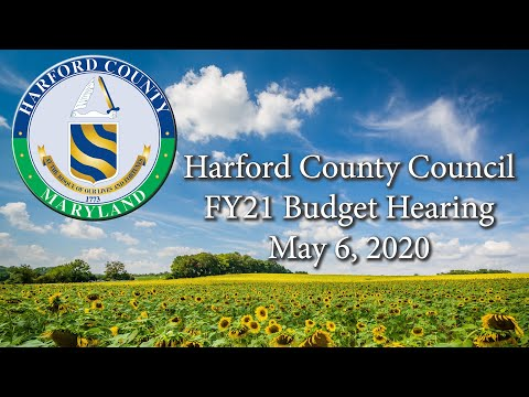 Harford County Council FY21 Budget Public Hearing