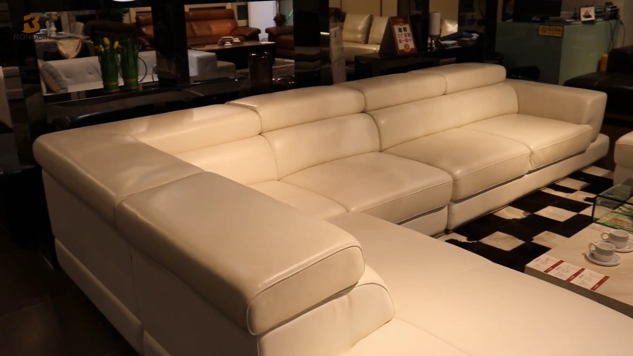 Custom Sofa Design Online Big Leather Sectional Corner Set In Living Room Furniture Store Foshan Rongbin