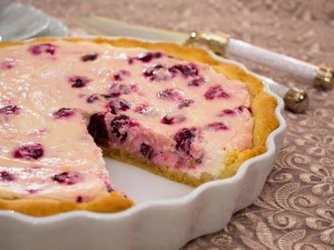 Пирог с творожно вишневым кремом (с фото)