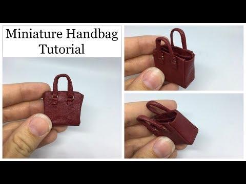 Easy Miniature Handbag Tutorial (No Sew)