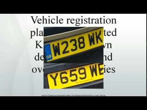 Vehicle registration plates of the United Kingdom, Crown dependencies and overseas territo